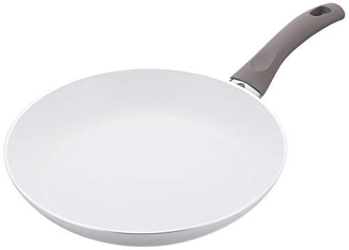 BALLARINI Treviso flach 28cm Pfanne, Aluminium, weiß, 28 cm