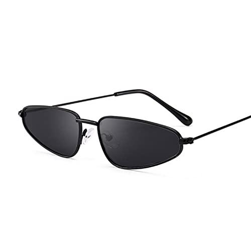WANGZX Gafas De Sol Retro con Forma De Ojo De Gato para Mujer Gafas De Sol Neutrales con Montura Pequeña De Aleación Gafas De Calle para Mujer Uv400 Blackgray