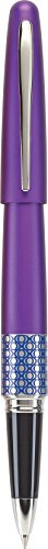 PILOT MR Retro Pop Collection Gel Roller Pen in Gift Box, Purple Barrel with Elipse Accent, Fine Point Stainless Steel Nib, Refillable Black Ink (91404)