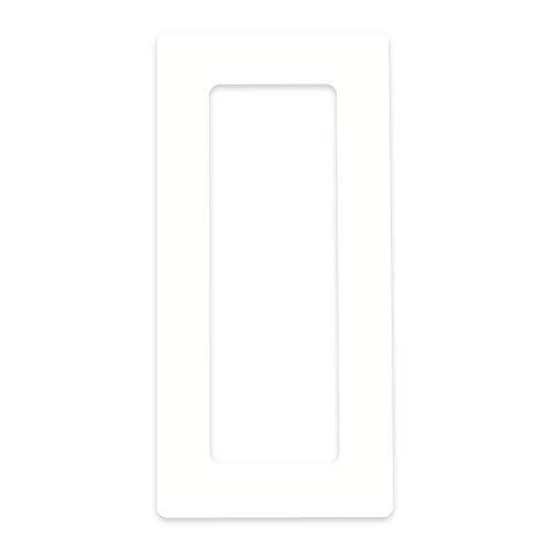 in-outdoorshop Tapetenschutz Tapetenschoner Dekorrahmen Wandschutz Rahmen Blende für Lichtschalter und Steckdose (transparent, 3-fach)