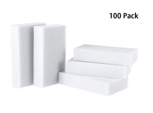 USMYTHA 100Pcs/lot Magic Eraser Melamine Cleaning Sponge Multi-Functional Foam Pads 10x6x2CM