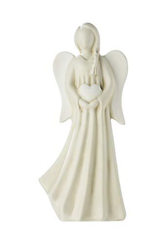 GILDE Engel - aus Keramik mit Herz creme weiß Höhe 31 cm