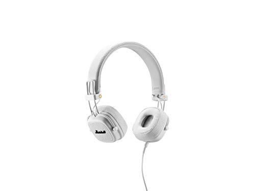 Marshall Major II - Auriculares con diadema (Dynamic, conector de 3.5 mm, 99 dB, 20 Hz–20 kHz ), color blanco