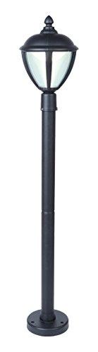 Eco Light Moderne LED-padverlichting Unitevoor buiten, hoogte 98,5 cm, LED, 6,5 W, zwart 12603 H4 BL