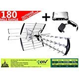 AntennaMastsRus - The Original 42 Element HD TV - HDTV Outdoor Directional Antenna VHF - UHF + 13dB Powered Amplifier Booster