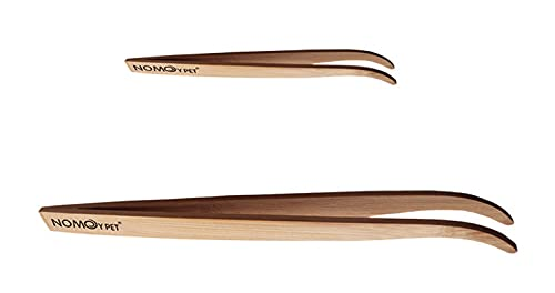 (pont du monde) 爬虫類用 ピンセット 給餌用 餌やり ペット 両生類 竹製 (2個セット) (小大セット)