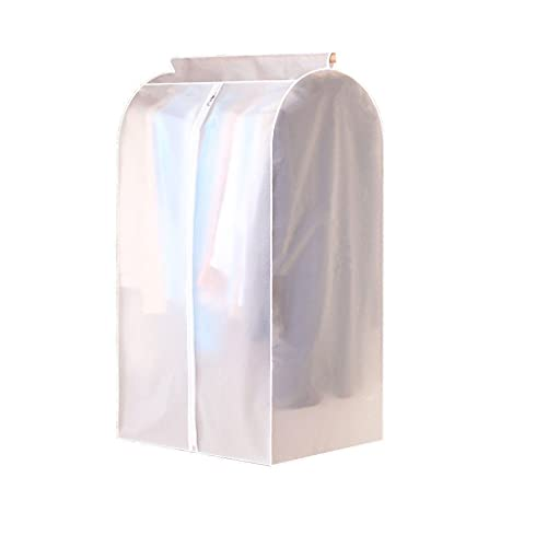 NINGYE Funda de ropa de gran capacidad, a prueba de polvo, bolsa de almacenamiento para colgar ropa con cremallera completa, fundas de ropa para almacenamiento de vestidos