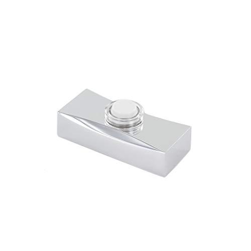 Chacon 84187 - Interruptor de presión, color plateado