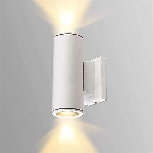 Aigostar Lampada da Parete Esterno Impermeabile IP65, GU10 Alluminio Up Down Lampada da Parete Esterni, Applique Moderna, Luce Esterno per Esterno Muro Portico Corridoio Terrazza, Bianco