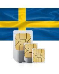 travSIM svenska Förbetalt SIM-Kort (Data SIM för Sverige) - 3GB Mobil Data att använda i Sverige Giltigt i 30 Dagar - svenska Data SIM-Kort Fungerar i 15+ svenska Länder