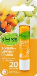 alverde NATURKOSMETIK Sonnen-Lippenpflege LSF20, 1 x 4,8 g