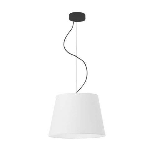 Lámpara de techo TUNIS pantalla Blanco Marco Negro