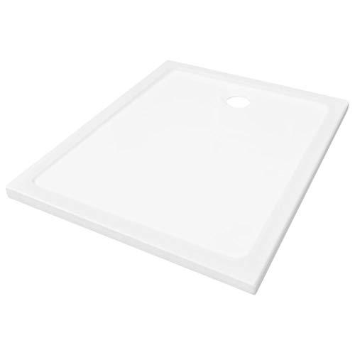 vidaXL Duschwanne ABS Weiß 80x100 cm Duschtasse Bad Brausewanne Korrosionsbeständig Niedrige Schwelle Duschbecken Brausetasse Badezimmer
