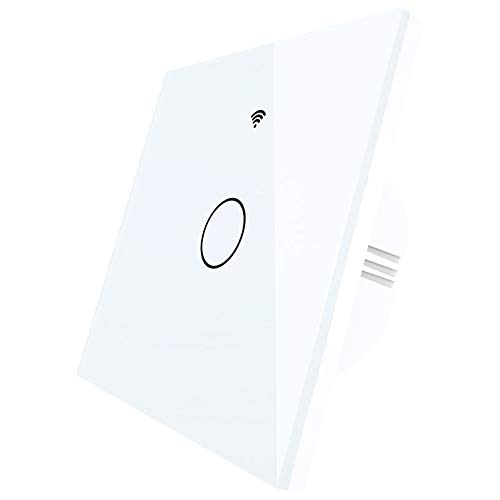 Cuasting WiFi RF433 Smart Wall Press Light Switch Tipo UE Smart Life/Tuya Control remoto Trabajar con Alexa Home