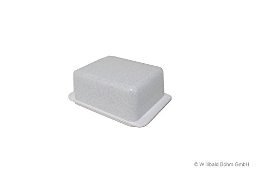 Butterdose granit-weiß - Sonja-PLASTIC - Made in Germany