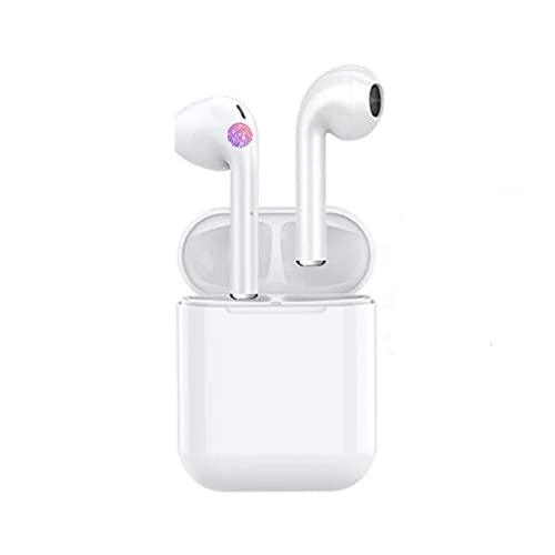 JIAXIAO Ship Auriculares Bluetooth, Llamadas binaural TWS Smart TWS Toque 5.0 Auriculares inalámbricos Deportivos, Auriculares a Prueba de Agua, con Caja de Carga y micrófono