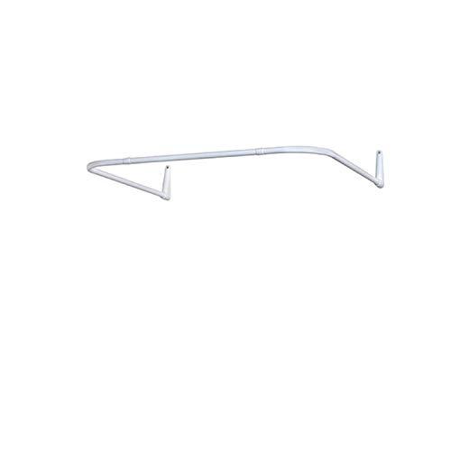Duschvorhangschiene Ecke 12 Kombinationen, Winkel und U-Form, Montage an Wand oder Duschstange über Eck, ohne Deckenhalterung, Weiße Winkelstange mit PVC-freier Kunststoffbeschichtung, 100% Rostfrei
