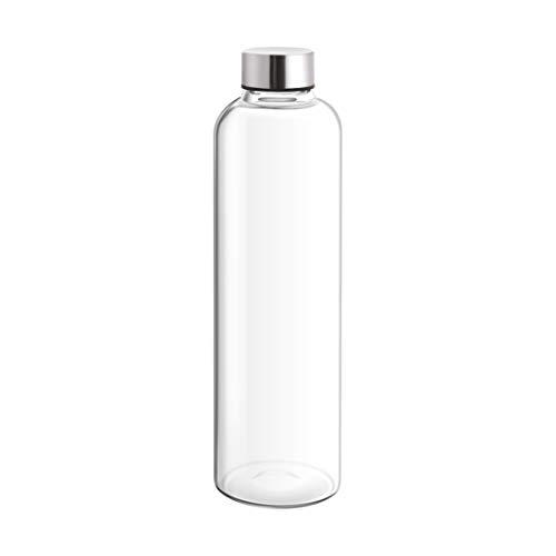 Treo by Milton Clarion Borosilicate Glass Water Bottle, 1000 ml