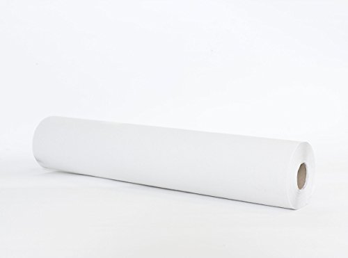 Rollo de papel camilla, sabana desechable en rollo para camillas, ancho 60 cm x 70 mts, color BLANCO