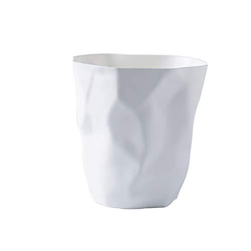 Poubelle Simple Home Poubelle Salon Chambre sans Couverture Papier Toilette Poubelle Plastique incassable Poubelle Bacs à déchets (Color : White, Taille : Large)