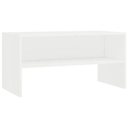 vidaXL TV Schrank Lowboard Couchtisch Fernsehschrank Fernsehtisch Sofatisch TV Tisch Möbel Board Sideboard Weiß 80x40x40cm Spanplatte