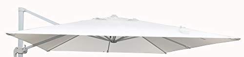 MICHELE SOGARI Telo Ricambio per ombrellone 3x3 a Base decentrata - Colore Bianco