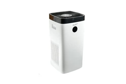 Purificador de aire con filtro HEPA 13 y tecnología ductFIT Gestión via APP y Wifi Cubre hasta 100m2 Elimina el 99.9% de virus, bacterias y ácaros Validado por el CSIC DUCTFIT| MOBILE100
