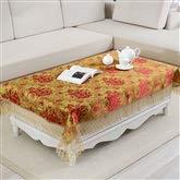 Couverture de table de rectangle de tissu de dentelle de fête brodée rouge pour la décoration intérieure, fêtes d'anniversaire, réceptions de mariage, tables de salle à manger (taille : 110 * 160cm)