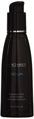 Wicked Sensual Care Wicked Aqua Water Based Lubricant Unscented 4 Oz