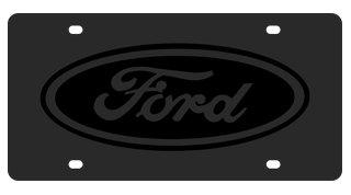 Ford Eurosport Daytona- Compatible Oval on Carbon Steel License Plate