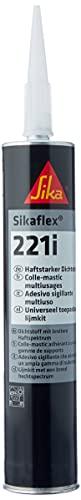 Sikaflex 221i vielseitig anwendbarer, haftstarker Dichtstoff 300 ml schwarz