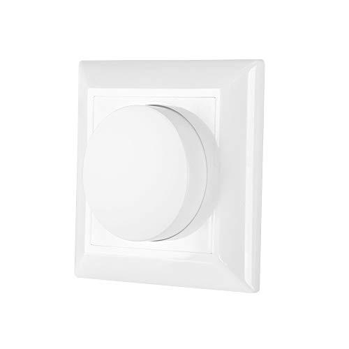 Dreh Dimmer Wanddimmer Phasenabschnittdimmer Schalter Unterputz für LED Einbauleuchte Leuchtmittel Lampen (5~150W), Halogen Lampen oder Glühlampe (5~300W) Zweiwegefunktion 1er Pack von Enuotek