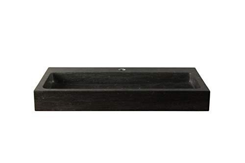 Natuurstenen wasbak hardsteen 80 cm BE-007mk
