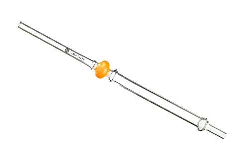 MATA LEON Candyglas Mundstück für Shisha Wasserpfeifen | 40 cm (orange)