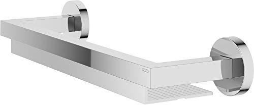 KEUCO Duschablage aus Metall hochglanz-verchromt und Aluminium silber eloxiert, 11x40x6cm, Wandmontage in der Dusche, Duschregal, Edition 90