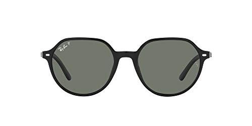 Ray-Ban 0RB2195-901/58-55, Gafas Hombre, Negro, Talla única