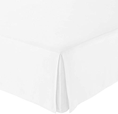 """Infiniti Collection Best 550-TC Egyptian Cotton (1-PC) Bed Skirt with 18"""" inch Drop Length (White Color) Solid Pattern Tailored Bed Skirt Size (King 76 x 80)"""