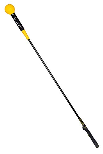 Asyxstar Golf Swing Trainer Aid - Golf Swing Training aid for Strength and Tempo Golf Training (Yellow, 48 inches)