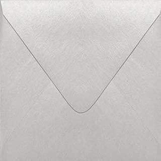 Stardream Silver 5 1/2 x 5 1/2 Euro Flap Square Envelope - 50 Envelopes