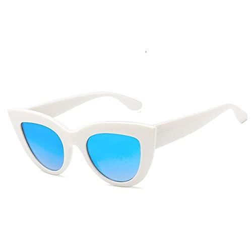 YXDS Estilo Europeo y Americano Retro Cat Eye Tendencia versátil Resina Universal y diseño de Material de PC Exquisitas Gafas de Sol
