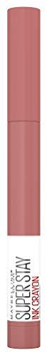 Maybelline New York Lippenstift, Super Stay Ink Crayon, Matt und langanhaltend, Nr. 105 On The Grind, 1,5 g