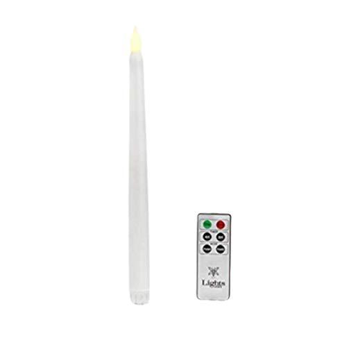 XXLYY 1pc Luz de Vela LED de Poste Largo electrónico con Control Remoto Lámpara de Vela LED Luz de Noche Luz de Vela para Banquete de Bodas de cumpleaños