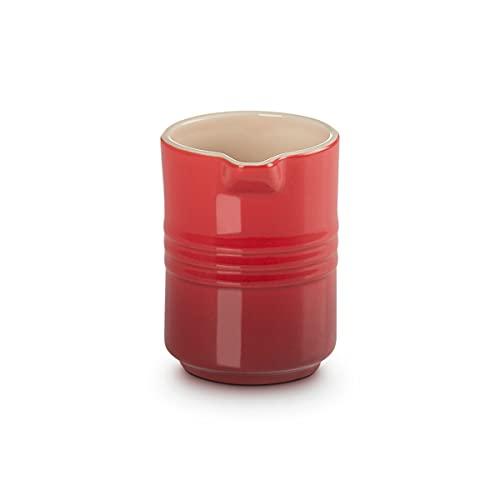 Le Creuset Jarra de leche de cerámica de gres, 150 ml, Rojo Cereza