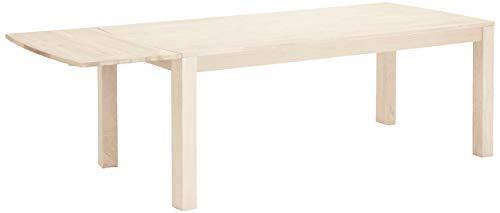 Ibbe Design Ansteckplatte Tischplatte für Paris Ausziehbar Esstisch Natur Massiv Weißöl-Finish Eiche Holz Esszimmer Tisch, L50x B90x H2,5 cm