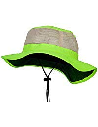 e4Hats.com Big Size Safety Boonie Hat (2XL-3XL, Neon Yellow)