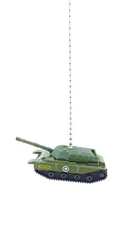 Military Army Tank Ceiling Fan Light Pull Chain Ornaments- (Green U.S. Army Tank)
