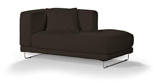 Dekoria Tylösand Recamiere rechts Sofabezug Sofahusse passend für IKEA Modell Nikkala braun