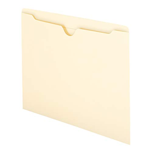 Smead File Jacket, Reinforced Straight-Cut Tab, Flat-No Expansion, Letter Size, Manila, 100 per Box (75500)