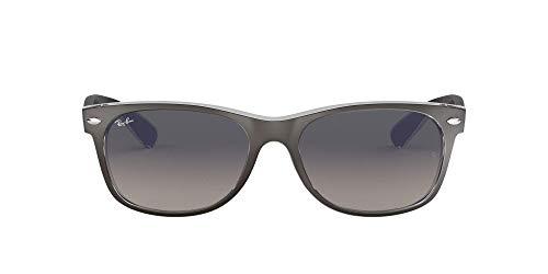 Ray Ban Unisex Sonnenbrille RB2132, Gr.52mm (Gestell:  Grau, Transparent; Gläser: grau verlauf dunkel grau)