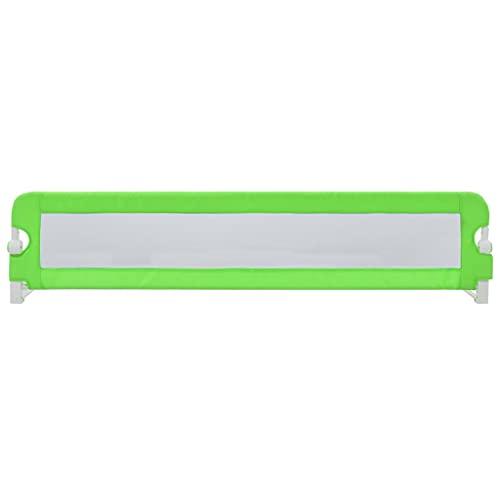Barandilla de Cama Abatible 180 x 42 cm, Barrera de Seguridad Plegable de Cama para niños de 18 Meses a 5 años, Verde
